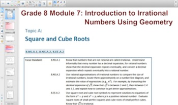 Engage NY Eureka Math 8th Grade Math Module 7 Topic A for