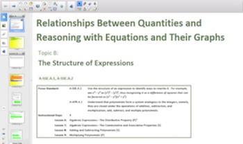 Engage NY Eureka Math Algebra 1 Module 3 Topic B for Smartboards