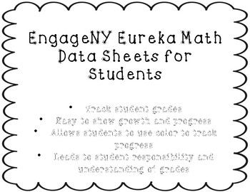 Engage NY: Eureka Math Data Tracking Sheets Printable!