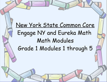 Engage NY, Eureka Math, Grade 1 Modules 1-5