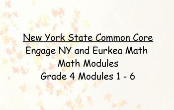 Engage NY, Eureka Math, Grade 4 Modules 1-6