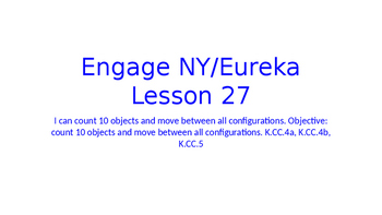 Engage NY/Eureka Math Module 1 Lesson 27