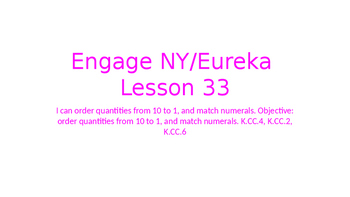 Engage NY/Eureka Math Module 1 Lesson 33