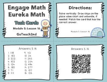 Engage NY Eureka Math Module 5 : Lesson 16  2.NBT.7 Math C
