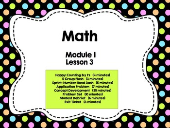Engage NY Grade 1 Math: Module 1 Lesson 3