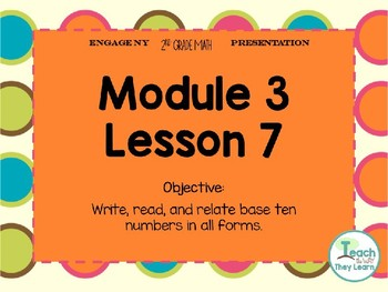 Engage NY Smart Board 2nd Grade Module 3 Lesson 7