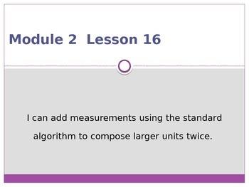 Engage New York / Eureka Grade 3 Module 2 Lesson 16 PowerPoint