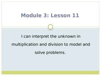 Engage New York / Eureka Grade 3 Module 3 Lesson 11 PowerPoint