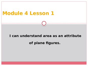 Engage New York / Eureka Grade 3 Module 4 Lesson 1 PowerPoint