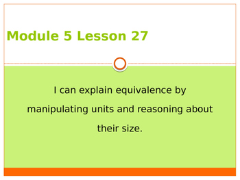 Engage New York / Eureka Grade 3 Module 5 Lesson 27 PowerPoint