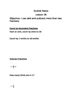 Engage NY Guided Notes Module 5 Lesson 18