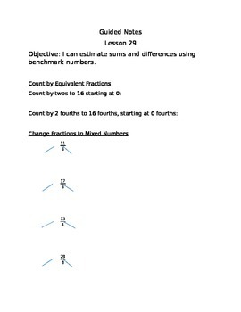 Engage NY Guided Notes Module 5 Lesson 29