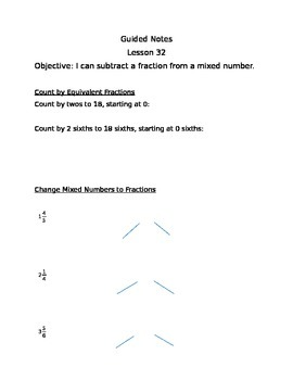 Engage NY Guided Notes Module 5 Lesson 32