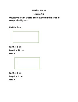 Engage NY Guided Notes Module 7 Lesson 15