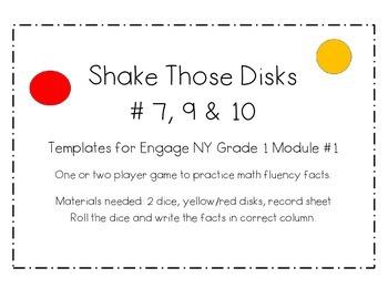 Engage NY Math Module 1 Shake Those Disks 7,9,10