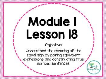 Engage NY Math SMART Board 1st Grade Module 1 Lesson 18
