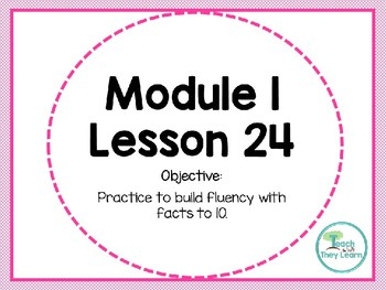Engage NY Math SMART Board 1st Grade Module 1 Lesson 24