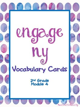 Engage NY Math Second Grade Module 4 Vocabulary Cards