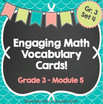 Engaging Math Vocabulary Cards 3.5