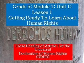 Engage NY Module 1 Unit 1 Lessons 1-11 bundle