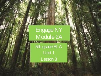 Engage NY Module 2A, 5th grade ELA, Unit 1, Lesson 3