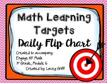 Engage NY Module 6 Learning Targets Flip Chart