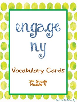 Engage NY Math Second Grade Module 3 Vocabulary Cards