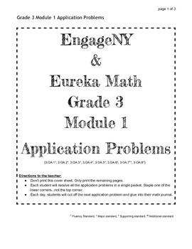 EngageNY and Eureka Math Grade 3 Application Problems for