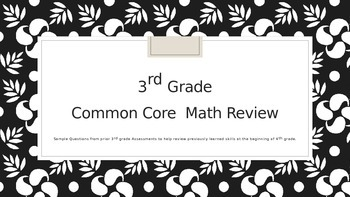 Math Review Engage New York 4th Grade  Review of 3rd Grade