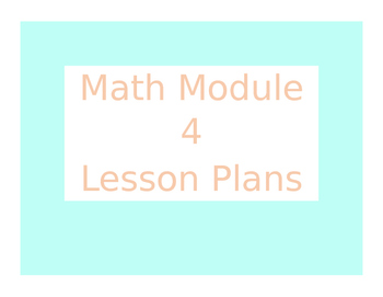 Engage New York / Eureka Math Module 4 Kindergarten Lesson Plans