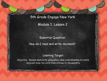Engage New York (Eureka) Grade 5-Module 1 Lesson 2 SMART Notebook