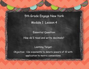 Engage New York (Eureka) Grade 5-Module 1 Lesson 4 SMART Notebook