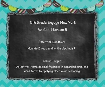 Engage New York (Eureka) Grade 5-Module 1 Lesson 5 SMART Notebook