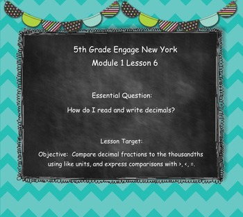 Engage New York (Eureka) Grade 5-Module 1 Lesson 6