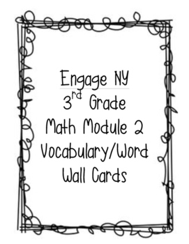 Engage New York: Math Module 2 Vocabulary