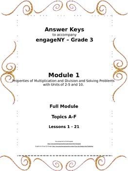 EngageNY - 3rd Grade Module 1 - Answer Keys (FULL MODULE)