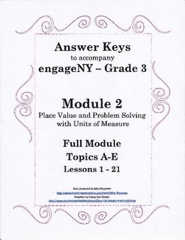 EngageNY - 3rd Grade Module 2 - Answer Keys (FULL MODULE)