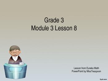 Eureka Math - 3rd Grade Module 3, Lesson 8 PowerPoint