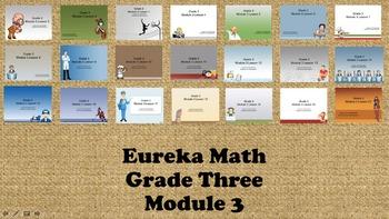 Eureka Math - 3rd Grade Module 3, Lessons 1-21 PowerPoints