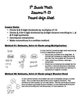 5th Grade EngageNY/Eureka Math - Module 2 - Lessons 19-23