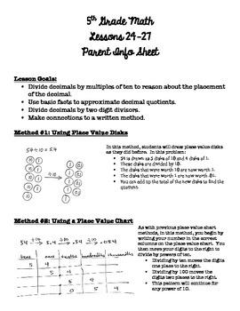 5th Grade EngageNY/Eureka Math - Module 2 - Lessons 24-27