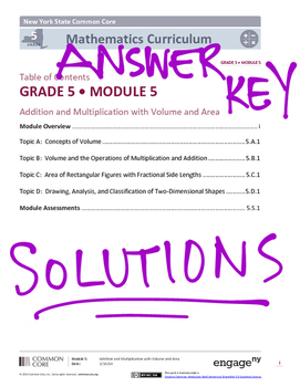 EngageNY (Eureka Math) Grade 5 Module 5 Answer Key