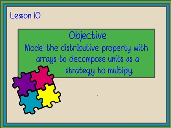 EngageNY Gr3 Module 1 Lesson 10 Distributive Property of M