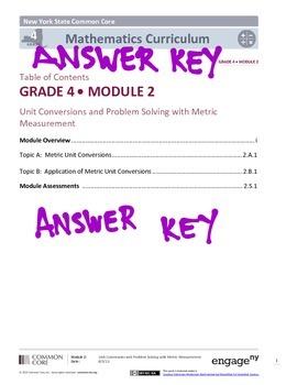 EngageNY (Eureka Math) Grade 4 Module 2 Answer Key