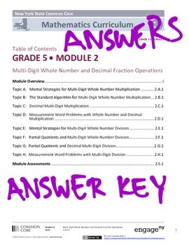 EngageNY Grade 5 Module 2 Answer Key