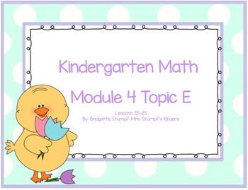 EngageNY Eureka Kindergarten Math Module 4 Topic E Lessons 25-28