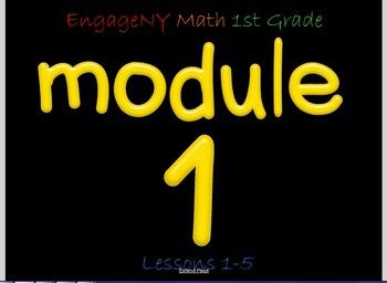 EngageNY Math 1st Grade Smartboard Activities Module 1 Les