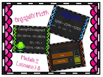 EngageNY Math 4th Grade Module 2, (Lessons 1-3)