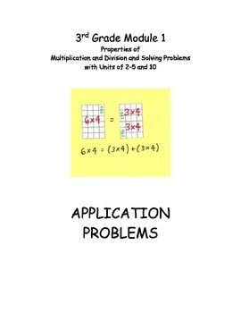 EngageNY Module 1 Application Problems, Multiplication and