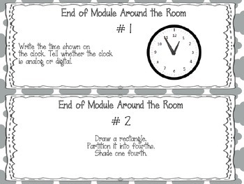 EngageNY 2015 Second Grade Math Module Eight Review Pack and Game